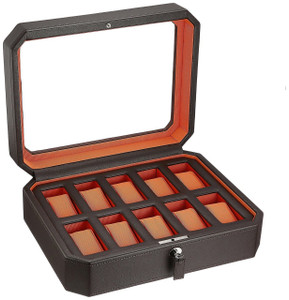 mele co men s watch storage box for 10 watches black product info