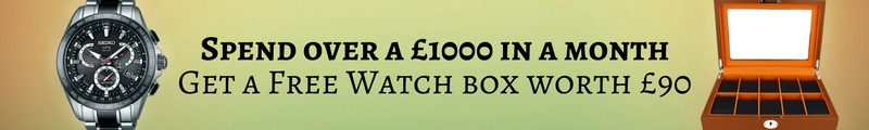 Free gift for spend Over £1000